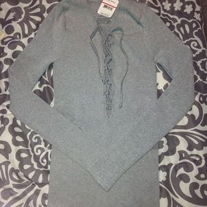 NWT Free People lace up shirt